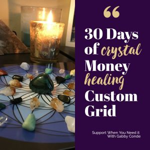 Crystal Money Healing Energy Custom Grid