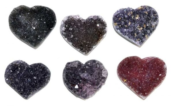 rainbow amethyst heart cluster crystal