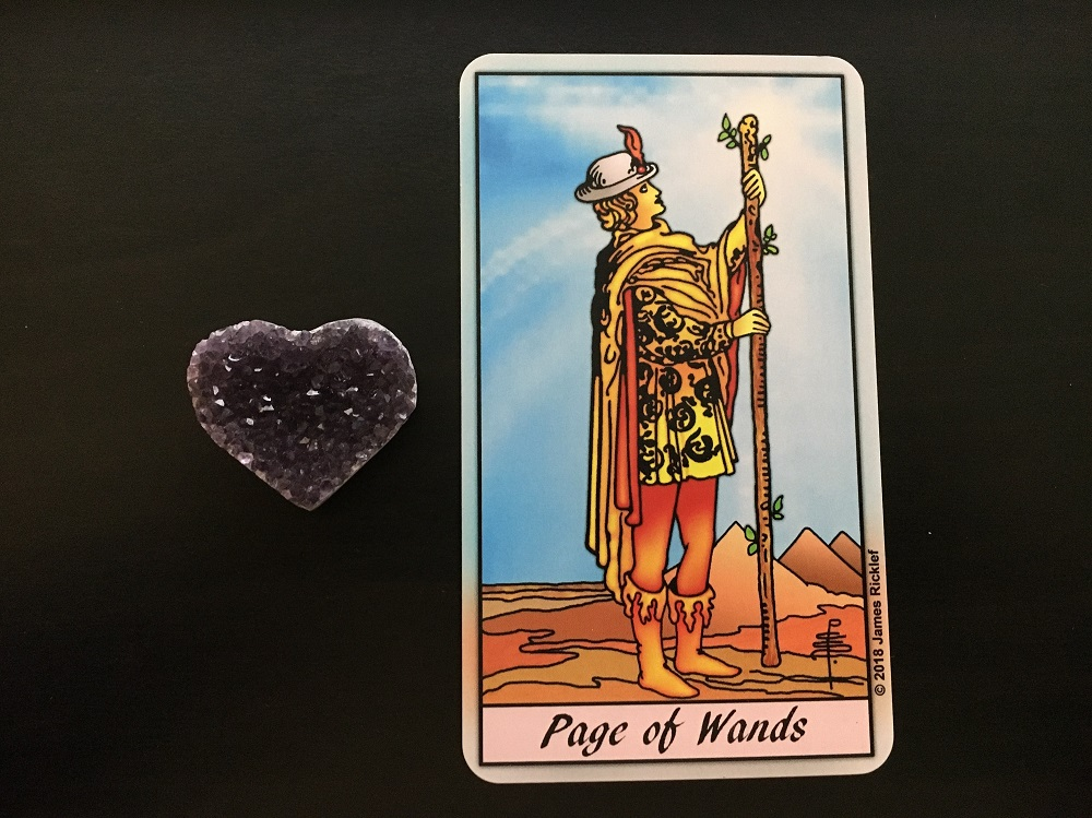 Page Wands Tarot Card Reading Amethyst