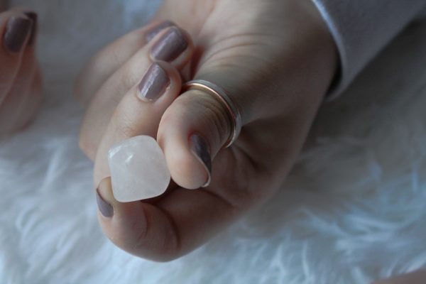 rose quartz tumbled stones small