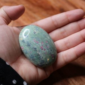 ruby zoisite crystal healing palm stone