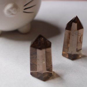 smoky quartz obelisk healing gemstone polished
