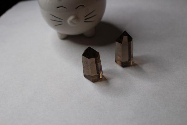 smoky quartz tower cleansing crystal gemstone