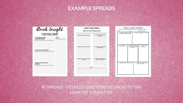 tarot card spreads printables card readings