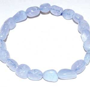 Blue Lace Agate Nugget Bracelet